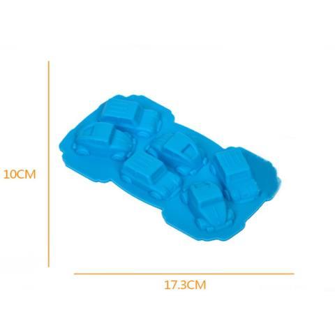 Lucu 1 Pcs Food Kelas 3D Silikon Karton Mobil Bentuk Silikon Cetakan Kue Fondan Kue Menghias-Internasional 1
