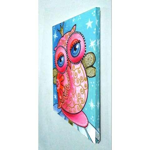 Lukisan Dinding Owl 04 Wall Art Poster A3 30x42 cm Bahan Canvas / Kanvas Print 1