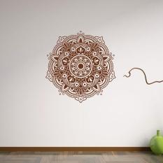 Mandala Flower Indian Kamar Tidur Ruang Tamu Wall Stiker Decal Art Mural Rumah-Internasional