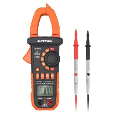 Meterk 4000 Counts Digital Clamp Meter AC/DC Voltage Current Portable Handheld LCD Diaplay Auto-ranging Clamp Multimeter w/ Backlight Capacitance Resistance Frequency Diode Hz Tester - intl