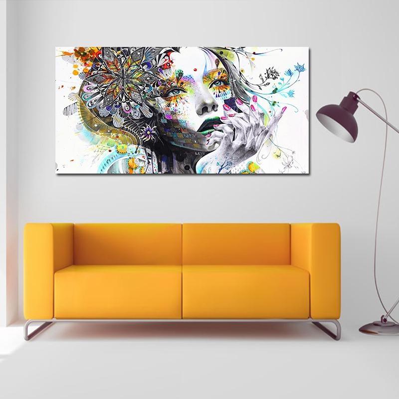Mingrui DIY Cat Air Lukisan Minyak Lukisan Dinding Dekorasi Rumah Gambar Lady Wajah-Intl