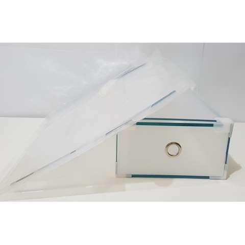 Jual Miracle 5 Pcs Kotak Sepatu Slide Clear Dengan Metal List Ring Dan Sudut Plastik Size