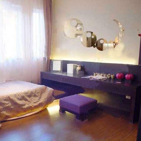 Cermin Wall Stick Stereo Wallpaper Ruang Pernikahan Teras Menghias Kelas Sofa Baru Background Check Memiliki Restoran P039-Intl 1