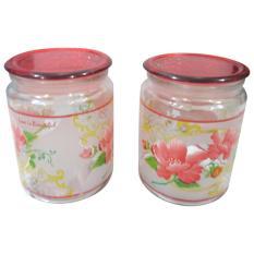 Mitra Loka - Cake Jar Set 2Pieces - Red