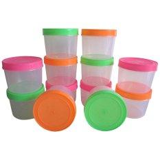 Mitra Loka - Toples Plastik 0.8kg Set 12Pieces - Multicolour