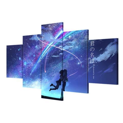 Dekorasi Rumah Modern Kanvas Lukisan 5 Panel Anime Nama Anda Wall Art Gambar untuk Kamar Tidur Print Movie Poster No Frame -Intl 1