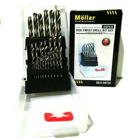 Mollar 25pcs HSS Drill bit / Mata bor besi HSS set
