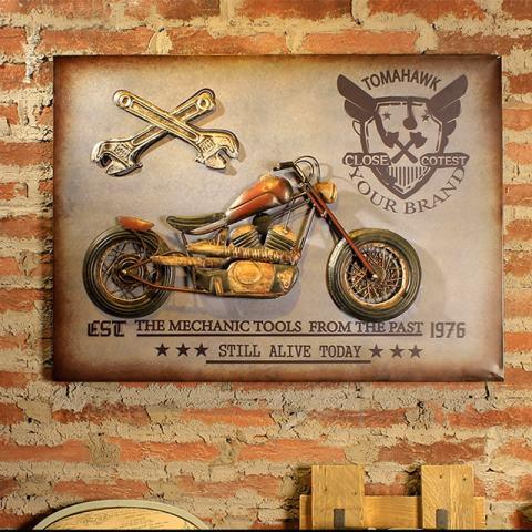Motor Retro Metal ART Hiasan Dinding untuk Penggemar Kelas Elit-Intl 1