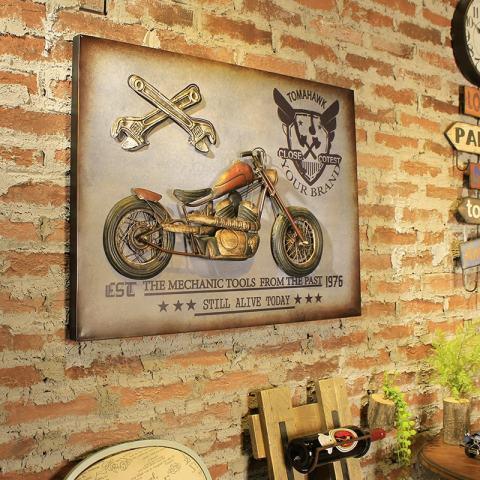 Motor Retro Metal ART Hiasan Dinding untuk Penggemar Kelas Elit-Intl 4