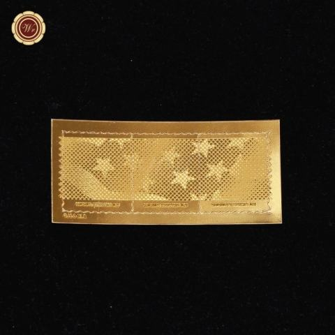 MStore USA Stars & Amp; Stripes Presorted Standard Strip dari 3 Stampsset 24 K Gold ST-Intl 1