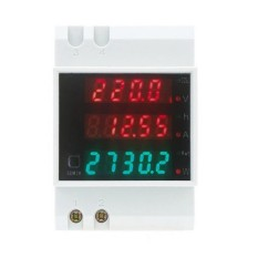 Multifungsi Digital Meter DIN Rail LED untuk Volt Amp Power Factor Power Waktu Ammeter Voltmeter AC 80-300 V 0-100A-Intl