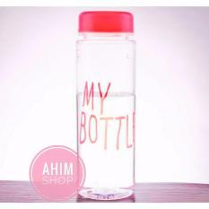 My Bottle 545ml CLEAR/Transparan Botol Minum ECO Friendly Infused Water Tritan BPA Free - PINK