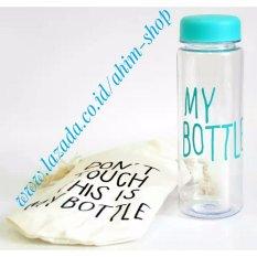My Bottle CLEAR 545 ml + BAG/Sarung Tas Botol Minum Tritan BPA Free - BLUE