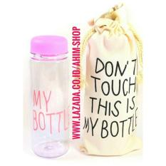 My Bottle CLEAR 545 ml + BAG/Sarung Tas Botol Minum Tritan BPA Free - PINK