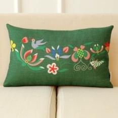 Baru Bantal Cina Rectangle Klasik Pola Angin Nasional Linen Bantal Sofa Cushion Sofa Sofa Bantal Lumbar Mengandung Core-Intl