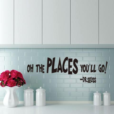 Oh Tempat Anda Akan Pergi Lukisan Dinding Stiker Dinding Rumah Yang Dapat Dilepas Stiker Vinil Seni Dekorasi Kamar 2