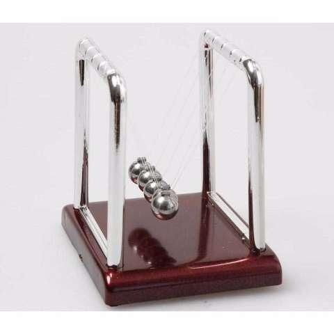 Pajangan Meja Pendulum Newton Hiasan Meja Kantor - Silver Brown 3