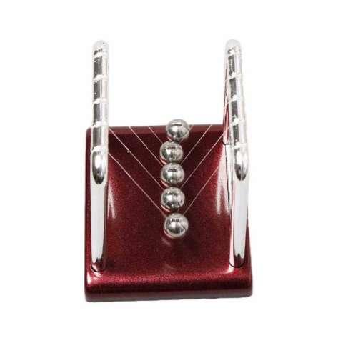 Pajangan Meja Pendulum Newton Hiasan Meja Kantor - Silver Brown 1