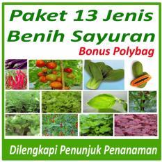 Paket Berkebun Sayuran Di Rumah 13 Jenis Bibit Sayur dan Polybag