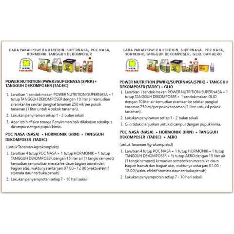 Paket Pupuk Budidaya Kelapa Sawit Organik Nasa Plus Tangguh Dekomposer Supernasa Power Nutrition Pocnasa Hormonik Glio