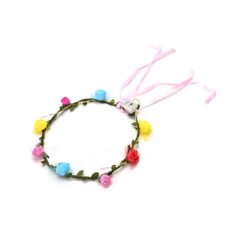 Pesta Pernikahan Gadis Wanita LED Light-Up Berkedip Floral Bunga Headband-Intl 3