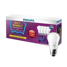 Philips Lampu 3+1 LED BULB 10.5 Watt (1 Paket isi 3 Gratis 1)