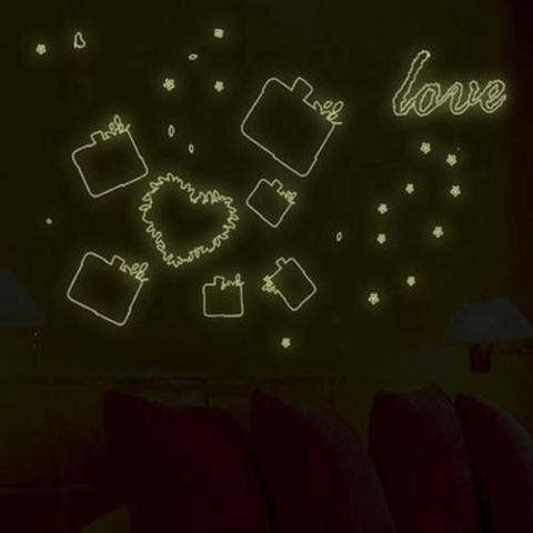 Bingkai Foto Cinta Cahaya Di Stiker Dinding Gelap Stiker untuk Kidsbaby Kamar Stiker Sofa Televisi Latar Belakang Dinding Vinil stiker Warna-warni-Internasional 1