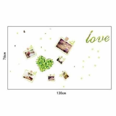 Bingkai Foto Cinta Cahaya Di Stiker Dinding Gelap Stiker untuk Kidsbaby Kamar Stiker Sofa Televisi Latar Belakang Dinding Vinil stiker Warna-warni-Internasional 2