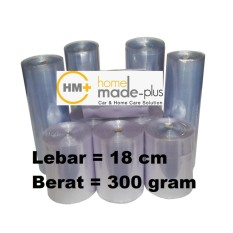 Plastik Segel ( Shrink Film ) bening, Lebar 18 cm, 300 gram