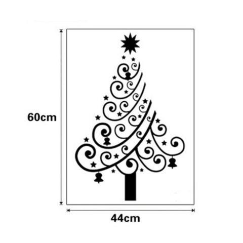 Pohon Natal dari Spindrift Bentuk Star Shopwindow Kamar Tidur Wall Stiker (Warna: C0)-Intl 2