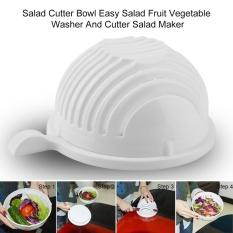 Portable Plastic 60 Seconds Salad Cutter Bowl Kitchen Fruit Vegetable Cutter