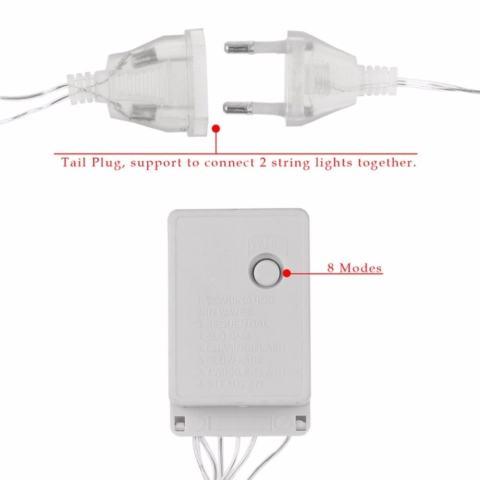 Lampu Tumblr Hias LED 10 Meter Warna Warni + Free Colokan Sambungan Kabel