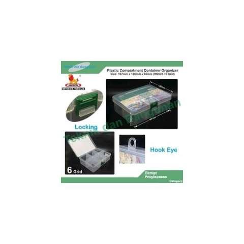 Home; PVC Container Organizer 6 Grid Wynn's W2623 (Size:167x126x62mm)