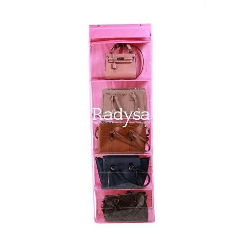 Rak Tempat Bumbu Seasoning Box Serbaguna 4 in 1 - Kristal (26418536). Source · Radysa Hanging Bag Organizer Rak Tas Gantung - Pink / Random Colour
