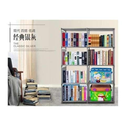 Rak Buku Portable 5 susun 2 Sisi / Rak serbaguna / Lemari buku portable / lemari