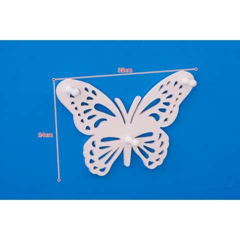 Rak Di Dinding Rak Hiasan Dinding Rak Tempel Minimalis Rak Serbaguna Minimalis Rak Dinding Ruang Tamu Rak Pajangan Minimalis Rak Dinding MH513 Superdeal Simple Butterfly 2