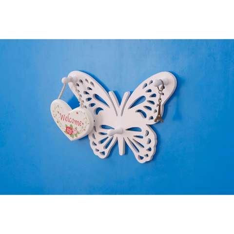 Rak Di Dinding Rak Hiasan Dinding Rak Tempel Minimalis Rak Serbaguna Minimalis Rak Dinding Ruang Tamu Rak Pajangan Minimalis Rak Dinding MH513 Superdeal Simple Butterfly 1