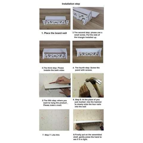 Rak pajangan gantung rak gantung unik rak hias minimalis rak ruang tamu minimalis rak dinding modern Rak Dinding Vintage (1 set isi 3 pcs 5 hook gantungan) 2