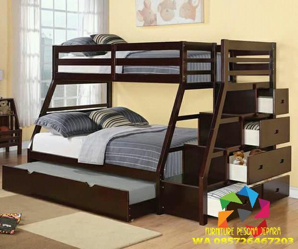 Ranjang susun, tempat tidur anak jati