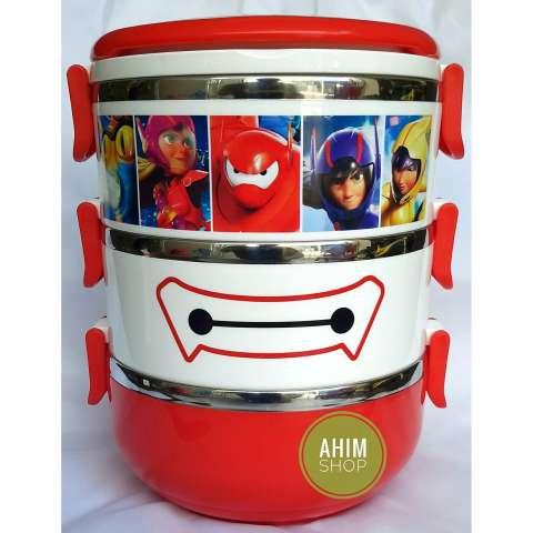 ... Rantang 3 Susun 2100 ml Lunch Box Stainless Steel Model BIG HERO BAYMAX Tempat Bekal