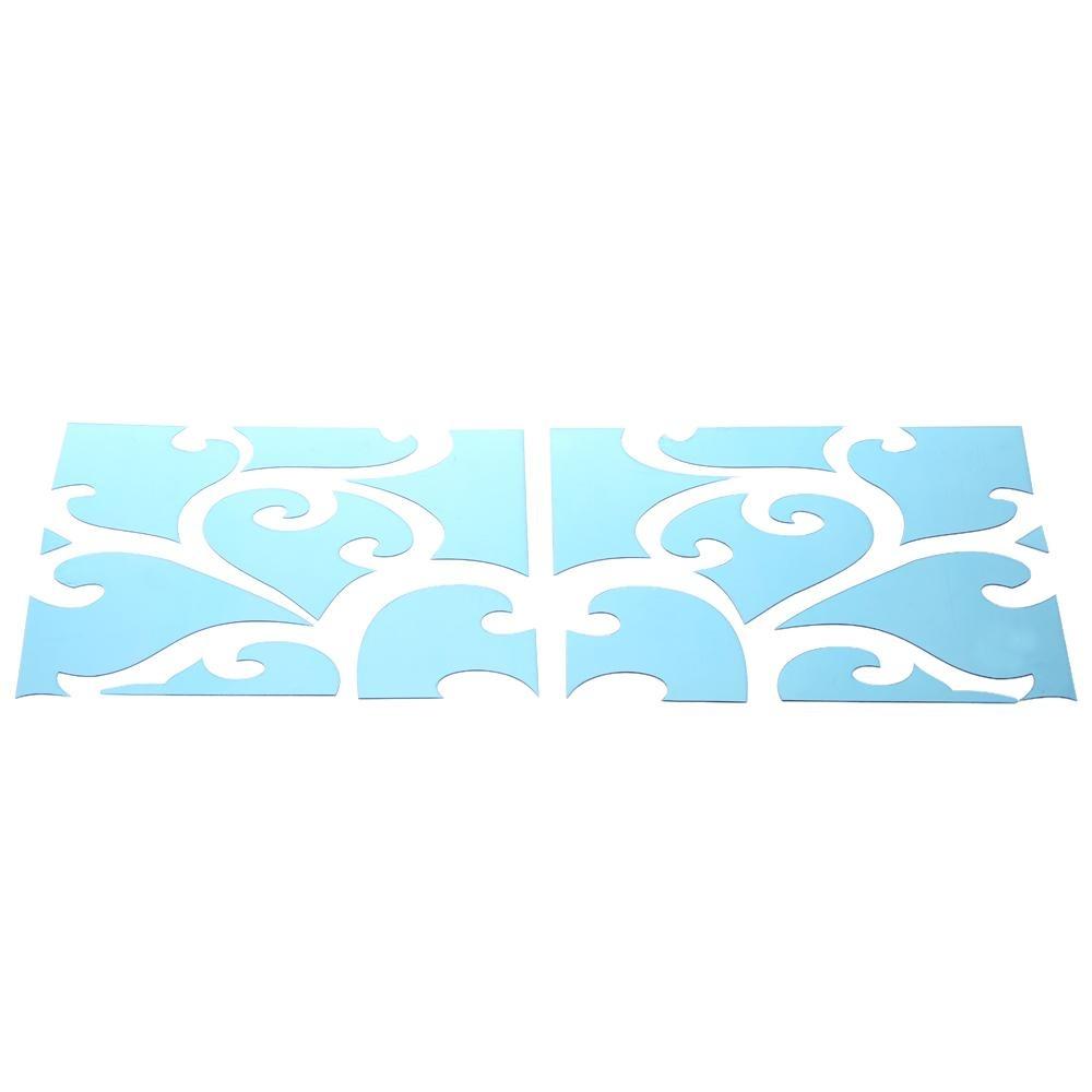 Removable DIY 3D Acrylic Mirror Wall Decal Set Stiker Seni Decals Mural untuk Dekorasi Rumah 30*120 Cm- INTL