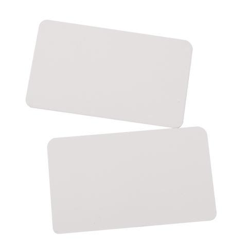Ris 100 Kraft Kertas Label Tag Kosong Kaset Tangan Draw Label Hadiah Putih 2