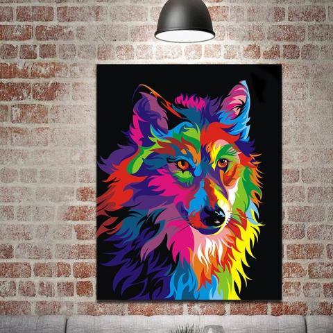ROJEY-Baru Yang Kreatif dengan Berbagai Warna, Lukisan Cat Minyak Berbentuk Persegi untuk Dekorasi Dinding Lukisan-Internasional 1
