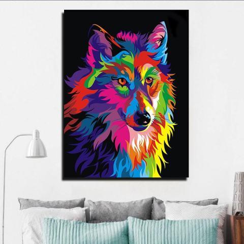 ROJEY-Baru Yang Kreatif dengan Berbagai Warna, Lukisan Cat Minyak Berbentuk Persegi untuk Dekorasi Dinding Lukisan-Internasional 3