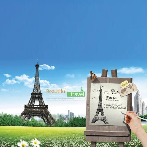 Romantis Paris Menara Eiffel Pemandangan Indah Dari Perancis