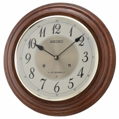 Seiko - QXM283B - Jam Dinding - 31.4cm - Wooden Case with Melodies Wall Clock