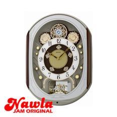 Seiko Wall Clock QXM276B Melodies In Motion 6 Hi-Fi - Jam Dinding QXM276