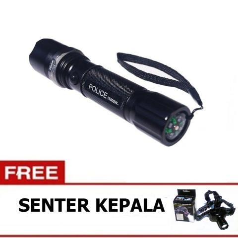 ... Laser Setrum Multifungsi Source Senter Police Swat Double lalin Gratis Headlamp Senter Kepala