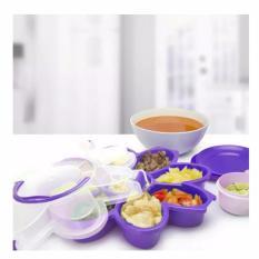 Serving Set Toples Ungu Purple Cantik Murah Piring Tempat Saji Kue Kering Lebaran
