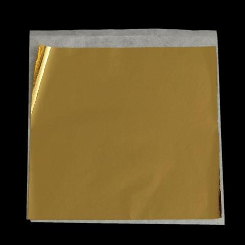 Lembar Taiwan Mengkilap Imitasi Warna Daun Emas Seperti 24 K Emas Gratis Pengiriman-Intl 4